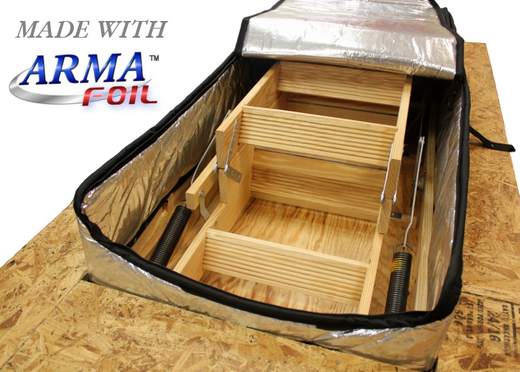 down door fold video attic homeowner s insulation ss today stair diy