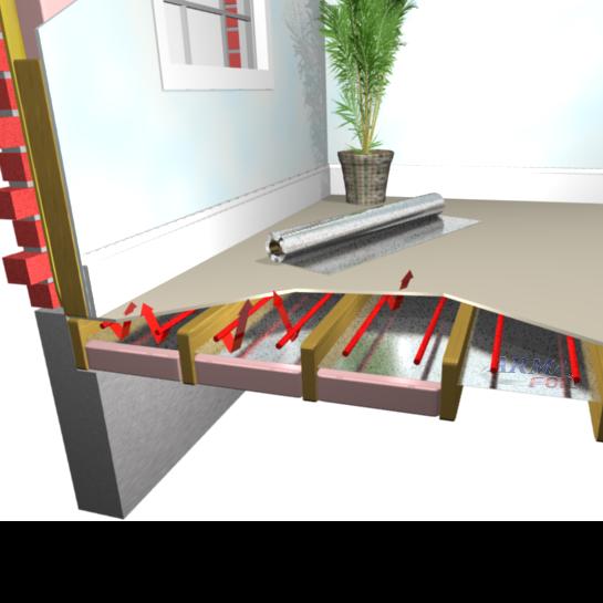"Radiant Heat Floor Insulation 17/"" wide 333 sqft PEX tubing Perforated walls"