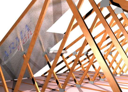 How to install radiant barrier in an attic for Roof trusses installation